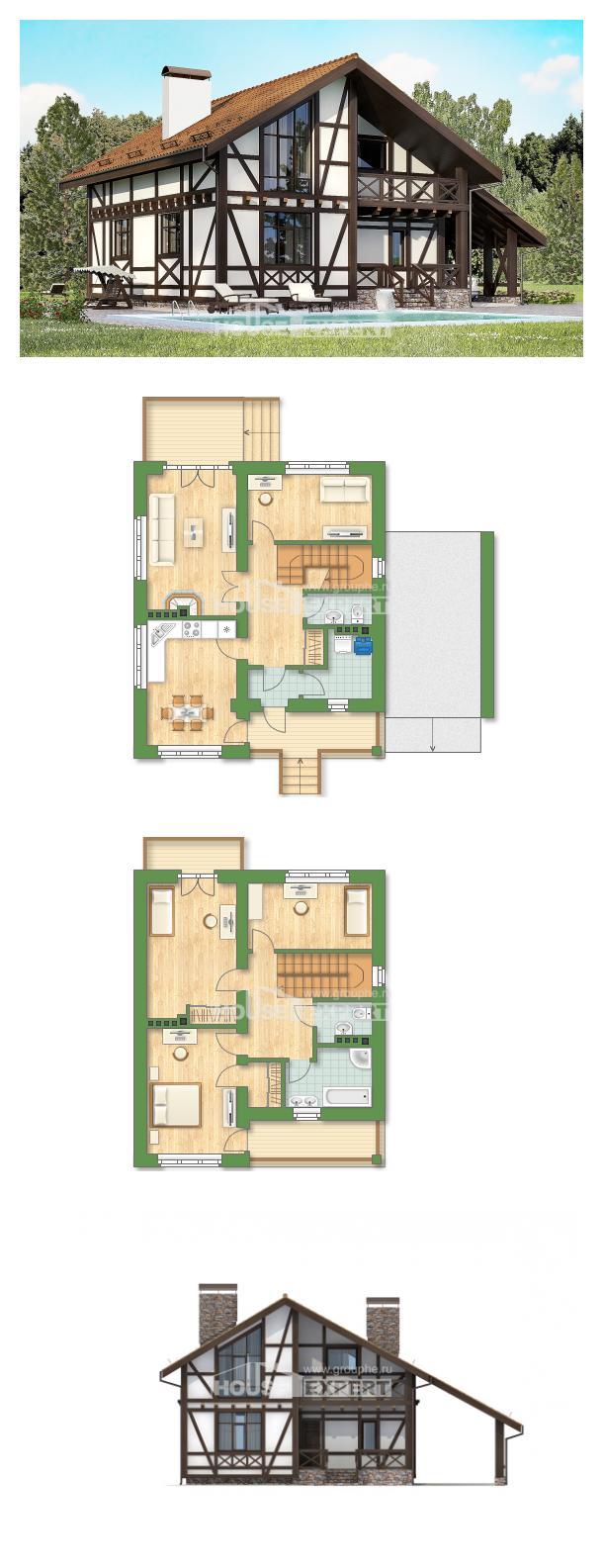Проект дома 155-002-П   House Expert